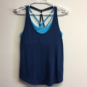 Old Navy Sports bra/mesh top athletic blue